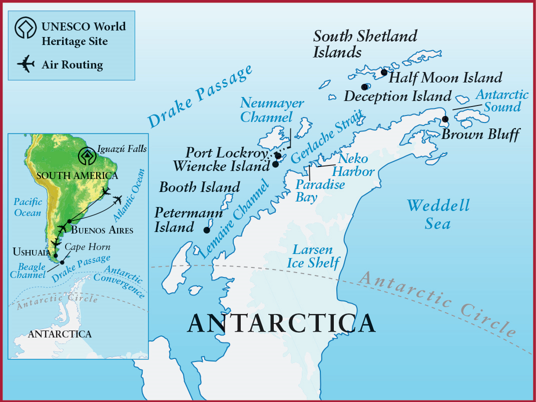 Mizzou Alumni Association Antarctica - Antarctica cities map