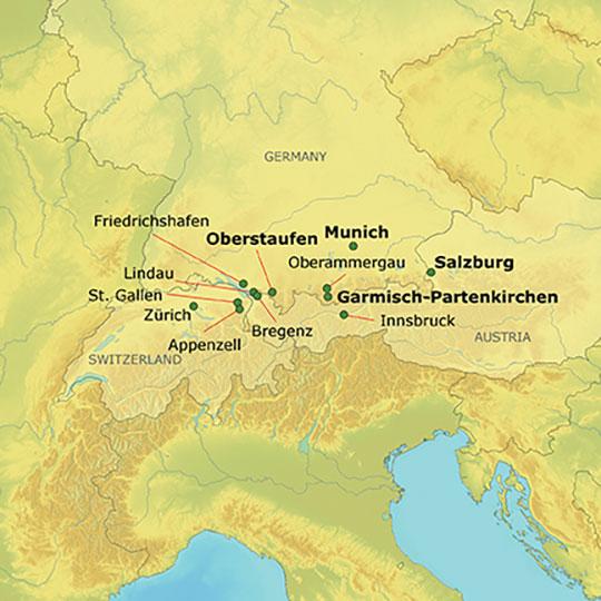 Oberammergau Germany Map.Mizzou Alumni Association Switzerland Germany Austria